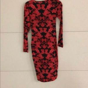 No brand cotton spandex long sleeve dress